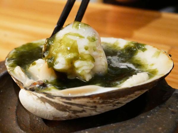 中目黒 カニ鍋 吉次蟹蔵 コース ほっき貝のアオサ焼き