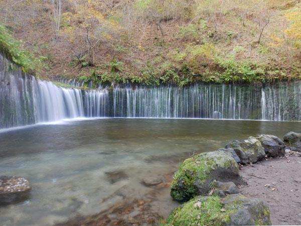 万座温泉 観光 白糸の滝