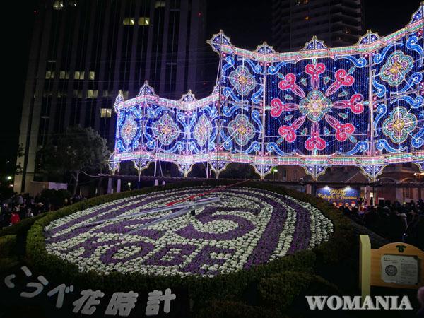 神戸 ルミナリエ 東遊園地 花時計広場の作品 ブログ レポート