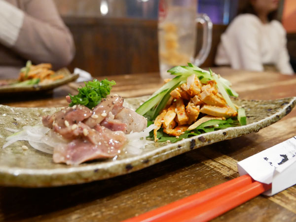神戸三宮肉寿司 口コミ 砂肝ペッパー、肉チャンジャ