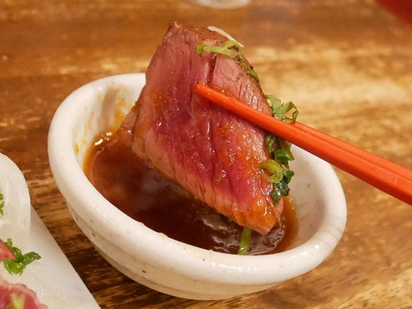 神戸三宮肉寿司 口コミ 馬サーロインたたき