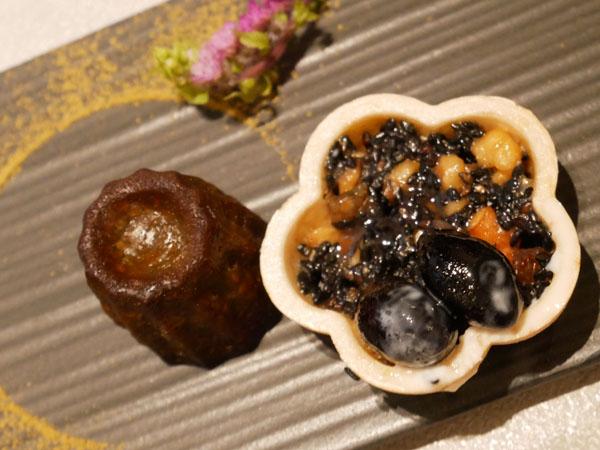 神戸市立博物館 カフェ トゥーストゥース凸凹茶房 凸凹ティーセット 最中の丹波黒豆フロランタン