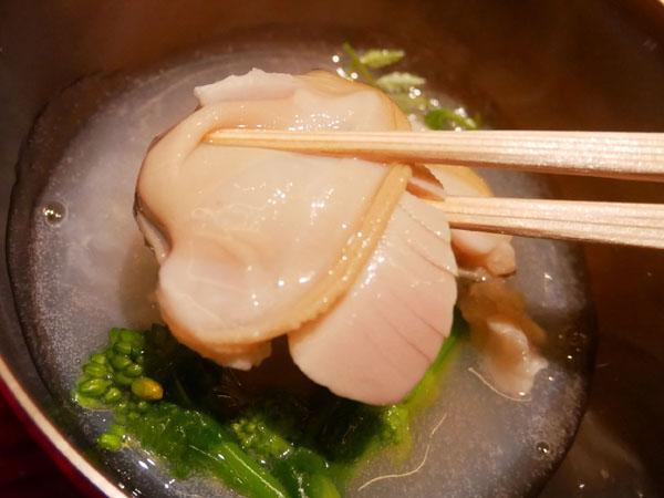 銀座 結絆(ゆいな) 口コミ 蛤と菜の花の煮浸し 木の芽 ブログ レポート