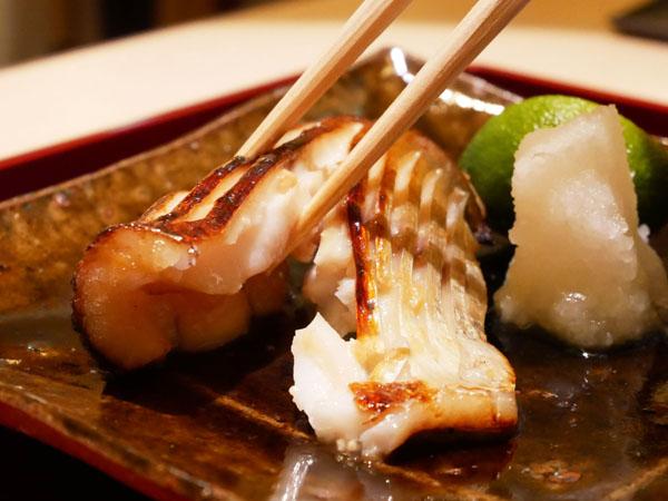 銀座 結絆(ゆいな) 口コミ 疣鯛の味噌幽庵焼き 酢橘おろし ブログ レポート