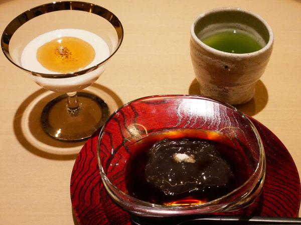 銀座 結絆(ゆいな) 口コミ ほうじ茶のブランマンジェ 柔らかわらび餅 ブログ レポート