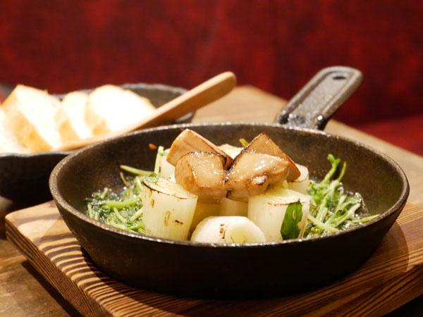 裏天王寺 肉寿司 口コミ ブログ レポート 焼きネギとフォアグラのとろけるアヒージョ