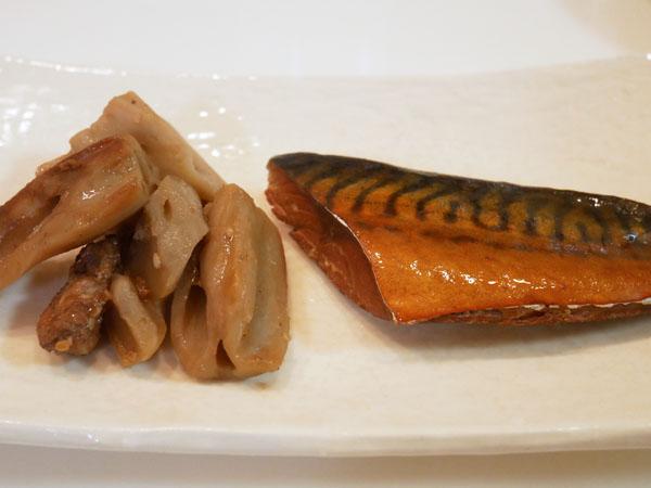 銀座名店のお惣菜 お取り寄せ 魚勝 鯖の燻製 尾崎牛のれんこん塩きんぴら