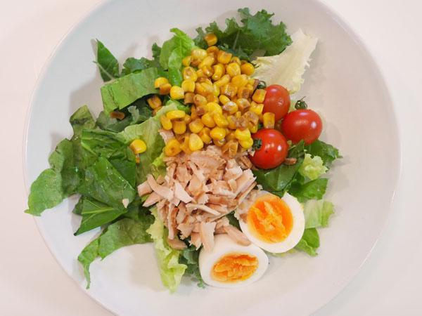 まつのベジタブルガーデン「農家さんお助け!野菜セット」料理方法 サラダ