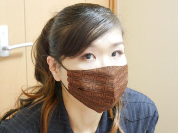 Q-pot.(キューポット) 布マスク つけてみた